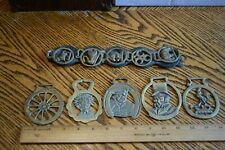 Lot of Antique Brass Leathercraft Western Saddles Conchos Variety Of Shapes