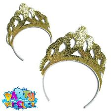 Womens Glitter Party Card Tiaras Ladies Drama Party Wear Accessory Pack of 12