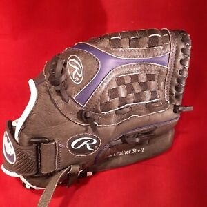 "Rawlings Storm 12 1/2 "" Softball Mitt ST1250FPUR Gray Purple RHT - Used"