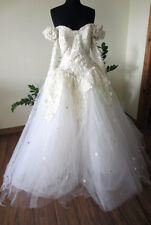 BEAUTIFUL VINTAGE EVE OF MILADY SEQUIN BEADED/PEARL WEDDING DRESS
