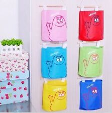 3x Storage Bag Oxford Cloth Washable Pouch Handbag Hanging Pocket Bags Pouch
