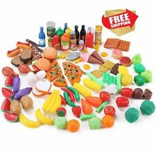 120pc Fun Play Food Set for Kids Kitchen ~ Cooking Kid Toy Lot Pretend Children