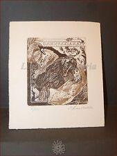 EROTICA - Ex-Libris Originale Firmato Lucci DANNUNZIANA De Filippis D'Annunzio