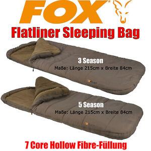 Fox Flatliner Sleeping Bag Schlafsack 215cm x 84cm sehr warm bequem Fleece