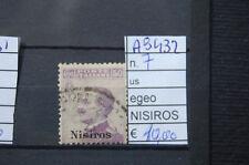 FRANCOBOLLI COLONIE EGEO NISIROS USATI N°7 (A9432)
