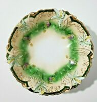 Antique R S Prussia Bowl with Flowers Cabinet Bowl a BEAUTY!!!