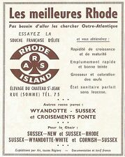 W5400 Rhode Island - Wyandotte - Sussex - Pubblicità 1961 - Advertising