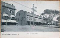 Ayer, MA 1905 Postcard: Main Street / Downtown - Massachusetts Mass