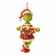 Dr. Seuss The Grinch Naughty or Nice Sign Hanging Ornament - Boxed Christmas