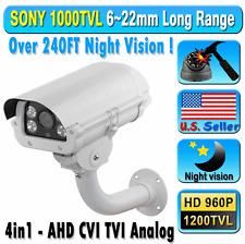 "1/3"" SONY 1200TVL Camera 1.3MP, 960P 6~22mm Long Range Lens 240FT Night Vision !"