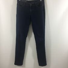 "Ann Taylor Women's Modern Fit Sz 8T 8 Tall Jeans Blue Dark Wash Long 33-7/8"" Ins"
