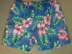 Pull On Swim Suit by Caribbean ~ Size 3XB ~ 4 Pockets ~ SR $ 69.50~Bright Multi