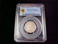 Peru  1874-YJ/YB  1/5 Sol  KM#191  PCGS  Cleaning  AU Details  Genuine