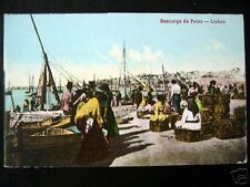 Portugal~1900s Lisboa~ Descarga de Peixe ~ FISH~CREELS
