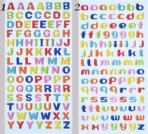 ABC Alphabet Buchstaben Schulanfang Design-Softy-Sticker Geburtstag Aufkleber