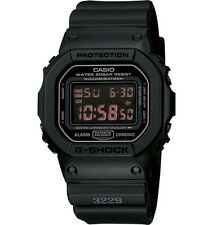 NEW CASIO G-SHOCK DW5600MS-1 BLACK SQUARE CASE RESIN BAND STANDARD DIGITAL WATCH