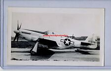 1946 NORTH AMERICAN P-51D MUSTANG FIGHTER ORIGINAL PHOTO ARMY WWII AVIATION NAA