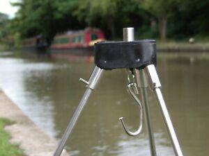 Solid Fishing Weigh Weighing Tripod Block Boss Adaptor Carp Catfish Triangular
