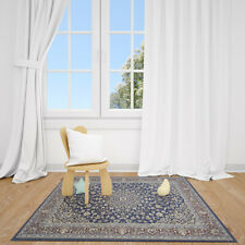 Tajeshia Machine made Polypropylene rug with floral design 6' x 9'