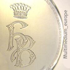 Jugendstil Spiegel Silber Anhänger Baron in Freifrau Krone Adel s Wappen silver