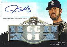 James Shields 2012 Topps Triple Threads Autograph 2-Color Patch 10/18 Relic Auto