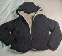ZAFUL Women's Fuzzy Hooded Jacket SV3 Black Small NWT