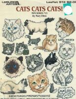 Leisure Arts 513 CATS CATS CATS Mini Series #13 for Cross Stitch