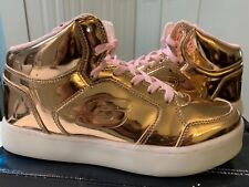 Skechers Energy Lights Rose Gold Size 3.5 Girls Dance Dazzle