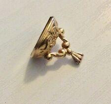 Lovely Vintage 9 Carat Gold & Carnelian Fob Pendant