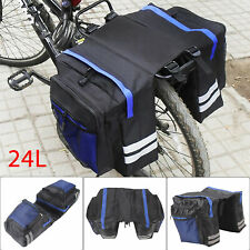 Fahrrad Satteltasche Doppeltasche Einzeln Gepäckträger Tasche Wasserdicht NEU