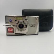 Konica Minolta DiMAGE G600 6.0MP Digital Camera - Silver TESTED W/LEATHER CASE