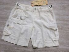 NEW Da Nang Women's Silk Blend Bermuda Summer Shorts WHITE RSS1772 MEDIUM M