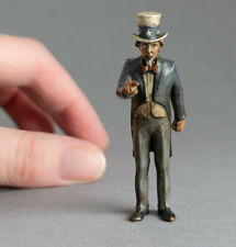 More details for rare cold painted bronze miniature uncle sam patriot usa recruitment for us army