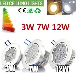 3W 7W 12W LED Recessed Ceiling Lights Adjustable Tilt Angle Downlight Spotlights