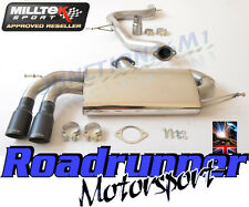 "Milltek SSXVW282 Golf GTi MK5 & Edition 30 Exhaust 3"" Race Cat Back NonRes Black"