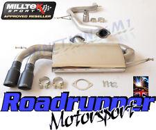 """Milltek SSXVW282 Golf GTI MK5 & Edition 30 3"""" De Escape Raza Gato posterior nonres Negro"""