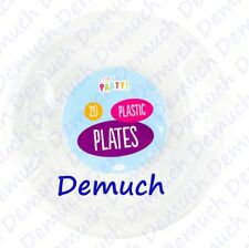 New 20 Pack White Plastic Party Plates Picnic Birthday Wedding All Occasions ✔