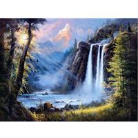 Full Drill DIY 5D Diamond Painting Waterfall Embroidery Cross Stitch Kits Decor