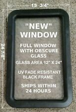 """NEW!!!"" Black RV Camper Travel Trailer Entry / Entrance Door Window"