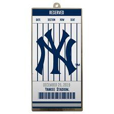 NY New York Yankees Metal Ticket Baseball Christmas Tree Holiday Ornament Logo