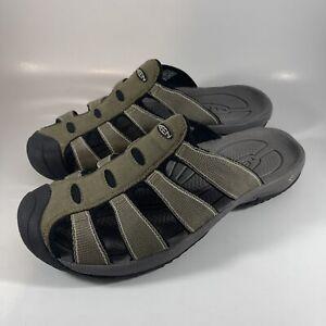 Keen Men's Aruba Sz 11 Green / Grey Quick Drying Comfortable Slide Beach Sandal