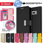 Galaxy S8 S8 Plus Case Wallet Leather Goospery Rich Diary Flip Cover for Samsung