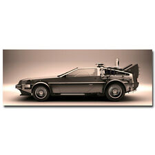 Back To The Future Classic Movie Silk Poster Bedroom Decor Picture 24x60' Car