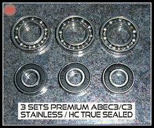 3 SET Deal RC PREMIUM BEARINGS SS & HC OS 46 AX 46FX  SAITO FA82 FA91 120P 130