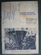 LELY P 300 Fertilizzante broacaster MANUALE Classico Vintage Trattore FE MF TE20 Fergy