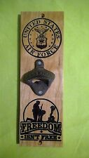 Air Force Bottle opener Carved Cherry Wood American Made Home Made