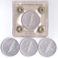 REPUBBLICA 2 LIRE - 4 MONETE - 1946 1948 1949 1950 - BB/SPL