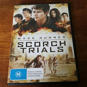 Maze Runner the Scorch Trials  DVD R4 Like New! FREE POST