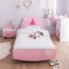 Kinderbett Anastasia Bett Bettgestell in weiß und MDF rosa lackiert 90x190 cm