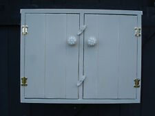 Wall cabinet, Wall hanging Shabby Chic,Handmade, Hand painted.Possible bathroom